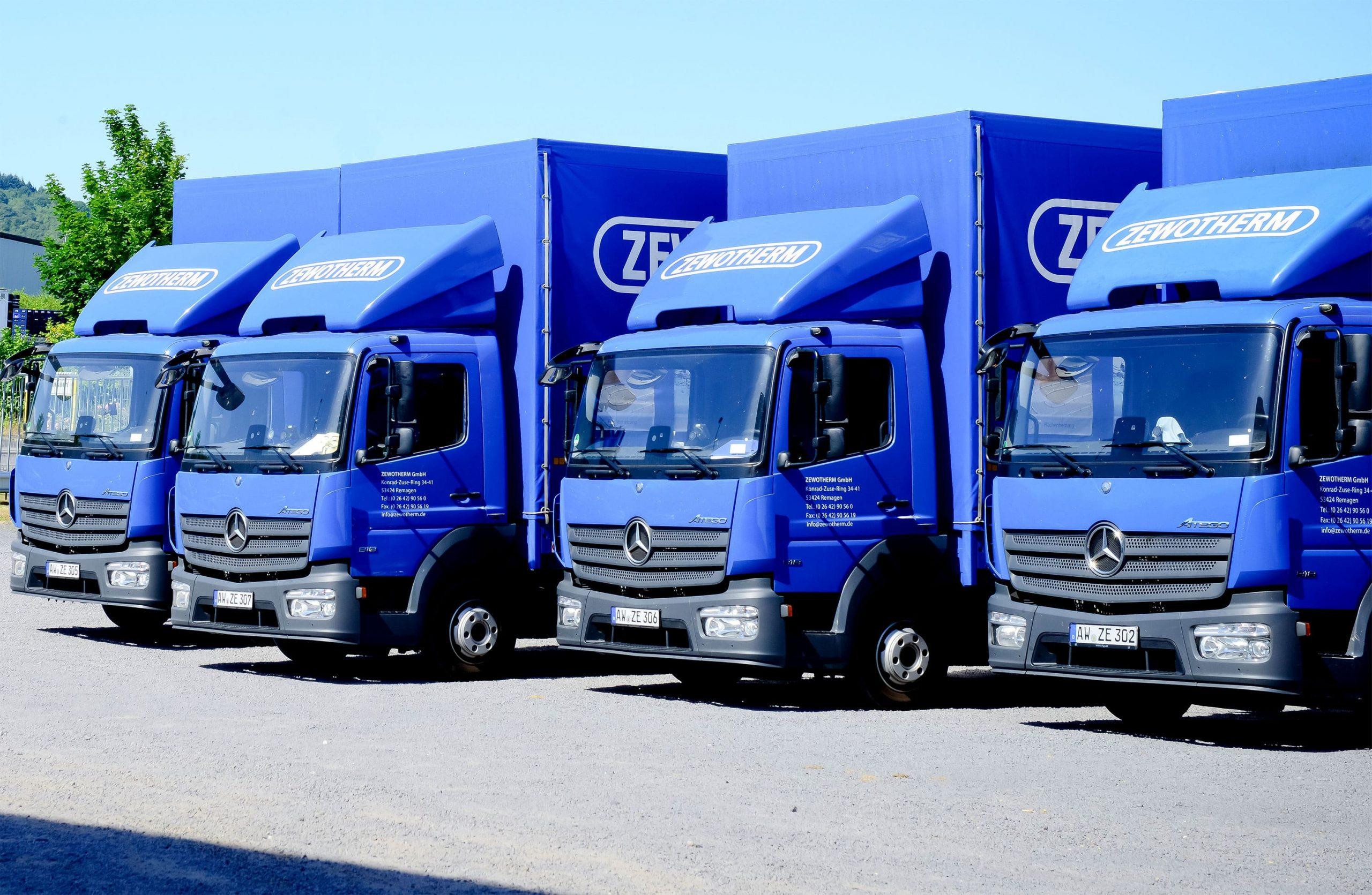 LKW Flotte der ZW Logistics